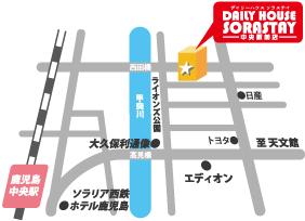デイリーハウスソラステイ 中央駅前店 (旧ウィークリーマンション&マンスリーマンション21企画) アクセスマップ